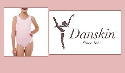 Danskin Now Leotard 1 Dream Pink Girls Dance Tank Leotard Medium 7 8 FREE SHIP!