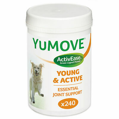 Lintbells Yumove Young & Active Dog Joint Support Supplement (240 Tablets)