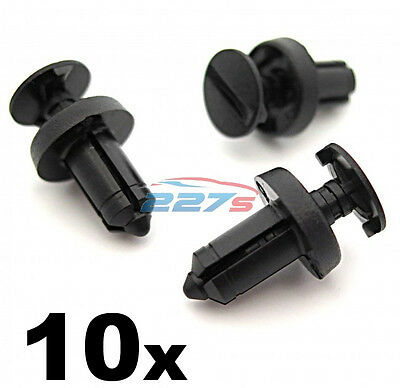 10x Fiat Croma & Abarth 500 Scuttle Panel Plastic Trim Clips- Fit a 6.5mm hole