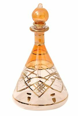 Egyptian perfume bottles single large hand Blown Decorative Pyrex Glass Vial ...