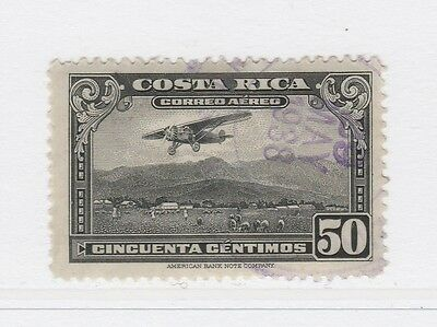 A2P50 COSTA RICA AIR POST STAMP 1934 50c USED