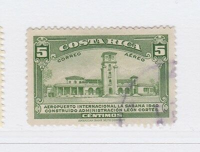 A2P50 COSTA RICA AIR POST STAMP 1940 5c USED