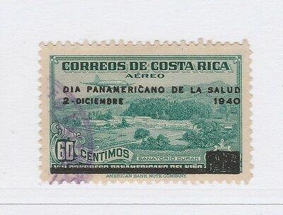 A2P50 COSTA RICA AIR POST STAMP 1940 OPTD 60c USED