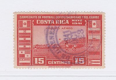 A2P50 COSTA RICA AIR POST STAMP 1941 15c USED