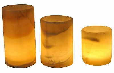 CraftsOfEgypt Egyptian Real Alabaster stone / marble candle holder votive Cup...
