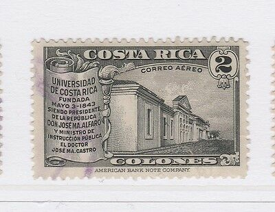 A2P50 COSTA RICA AIR POST STAMP 1941 2col USED