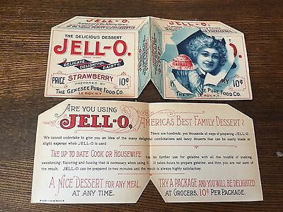 RARE antique vintage old Jell-O gelatin advertising trade card advertisment NICE