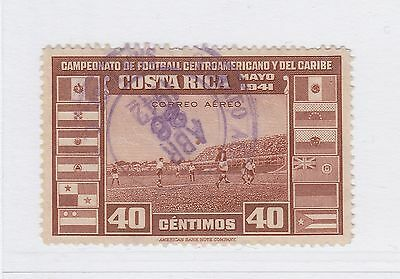 A2P50 COSTA RICA AIR POST STAMP 1941 40c USED
