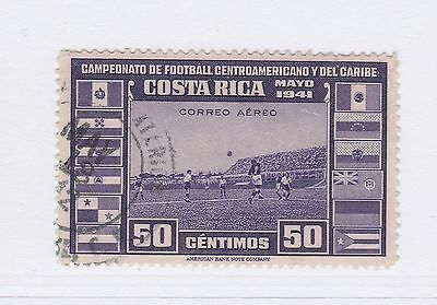 A2P50 COSTA RICA AIR POST STAMP 1941 50c USED