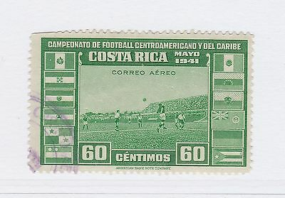 A2P50 COSTA RICA AIR POST STAMP 1941 60c USED