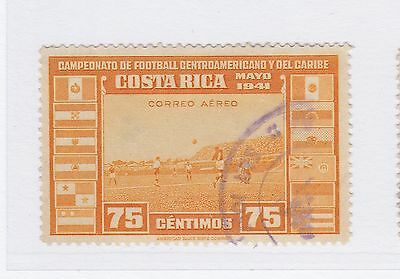 A2P50 COSTA RICA AIR POST STAMP 1941 75c USED