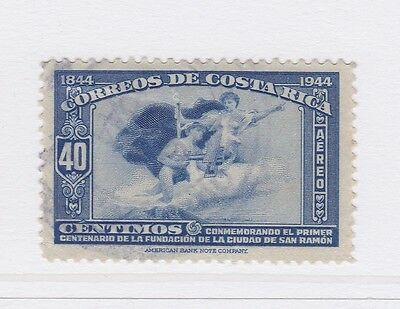 A2P50 COSTA RICA AIR POST STAMP 1944 40c USED