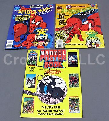 Spider-Man Magazine July & August 1994 Issue + Marvel Poster Book feat Spiderman