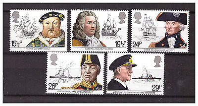 s11112) UK Great Britain 1982 MNH** Nuovi**Ships and Admirals 5v