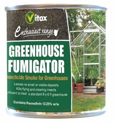Vitax Greenhouse Fumigator Insecticide Kills Flying And Crawling Insects 3.5g