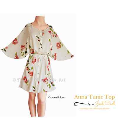 Anna - White with Butterflies Kaftan 16- 18