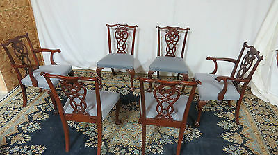 Chippendale Claw Foot Mahogany Dining Room Chairs Vintage