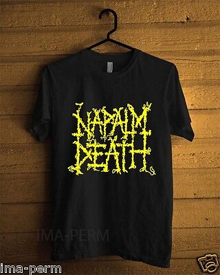 New NAPALM DEATH METAL Band Custom Black T-shirt for Men Size S-2XL
