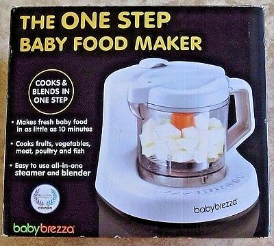 BABY BREZZA One Step Homemade Baby Food Maker BPA FREE White Blemished Box