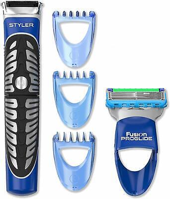 Gillette - Fusion ProGlide Power Styler 3-in-1, Rasoio a batterie