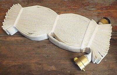 "National Fire Hose 1.5"" x 75ft Cabinet Rack & Reel Hose Brass Fittings UL FM NEW"