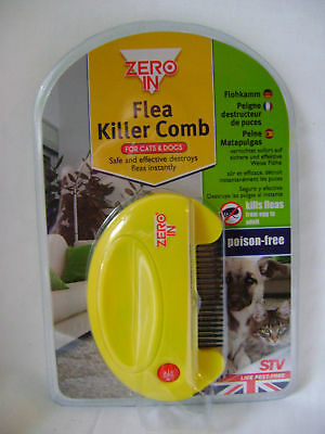 New Zero-In Electronic Flea Tick Killer Comb For Cats And Dogs Cat Dog Yellow