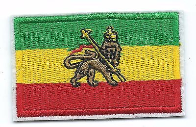 Rasta Flag Lion of Judah Embroidered Patch Iron-on Good Luck Magic Charm
