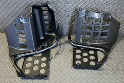 NEW Black Heel Guards footrest Yamaha Banshee left & right nerf bars plastics