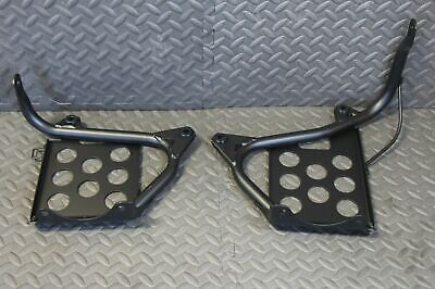 Black Heel Guards footrest stand Yamaha Banshee left & right nerf bars - NEW