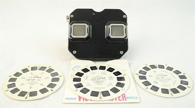 Vintage Sawyers Bakelite View Master Stereo Viewer w/ 3 Reels (1-2-3 Farm)