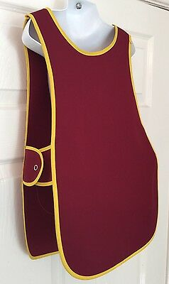Wholesale Job Lot 10 Brand New Kids Childrens Tabards Aprons Burgundy Clothes
