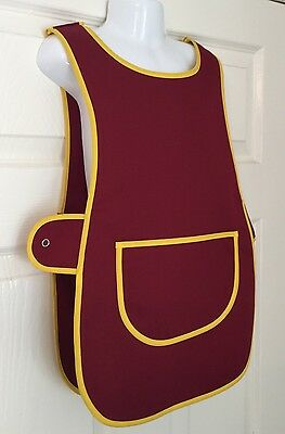 Wholesale Job Lot 10 Brand New Kids Childrens Tabards Aprons Burgundy Maroon