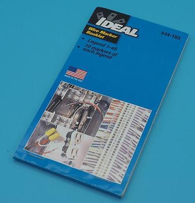 Ideal 44-103 Wire Marker Book 1-45 dq