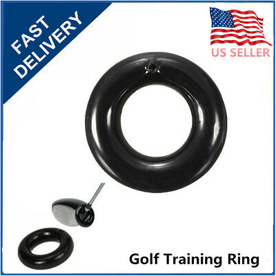 2PCS Golf Club Warm Up Training Aid Swing Round Weight Ring Weighted Practice US