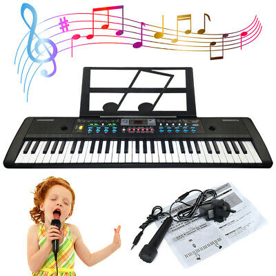61 Keys Digital Music Electronic Keyboard Electric Piano Organ Christmas Gift UK