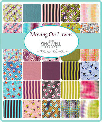 Patchwork/quilting Fabric Moda - Moving On Lawns - Charm Squares/packs