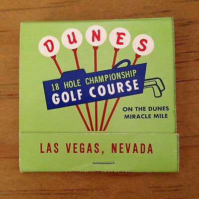 MATCHBOOK - DUNES 18 HOLE CHAMPIONSHIP GOLF COURSE - Las Vegas, NV  (1666)