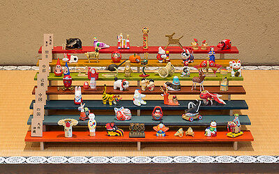 Complete Set of Miniature Japanese Folk Toy from all 47 Prefectures in Japan F/S