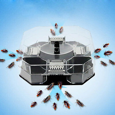 New Cockroach House Roacher Insects Bugs Capture Bait Trap Killer Catcher Box XF