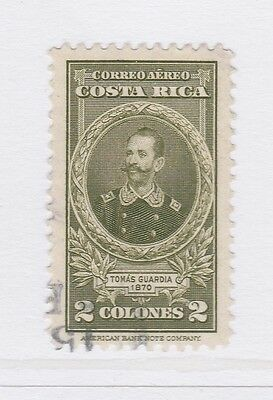 A2P50 COSTA RICA AIR POST STAMP 1943-45 2col USED