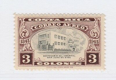 A2P50 COSTA RICA AIR POST STAMP 1946 3col MH*