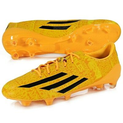 New Adidas Mens Adizero F50 FG Messi Orange Firm Ground Football Soccer Boots
