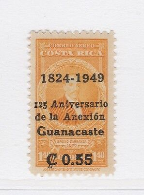 A2P51 COSTA RICA AIR POST STAMP 1949 SURCH 55c ON 1.40col MNH**