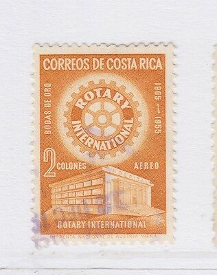 A2P51 COSTA RICA AIR POST STAMP 1956 2col USED