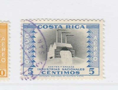 A2P51 COSTA RICA AIR POST STAMP 1956 5c USED