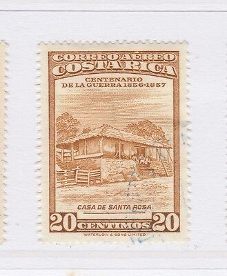 A2P51 COSTA RICA AIR POST STAMP 1957 20c USED