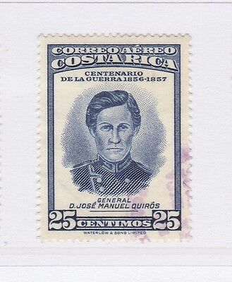 A2P51 COSTA RICA AIR POST STAMP 1957 25c USED