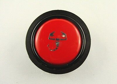 Hupenknopf rot horn button red pulsante claxon Abarth FIAT 124CSA Momo ABARTH