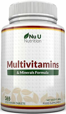 Multivitamins & Minerals Formula 365 tablets by  NU U  100% Money Back Guarantee