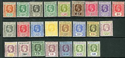 SEYCHELLES-1921-32  A mounted mint set to 5r Sg 98-123
